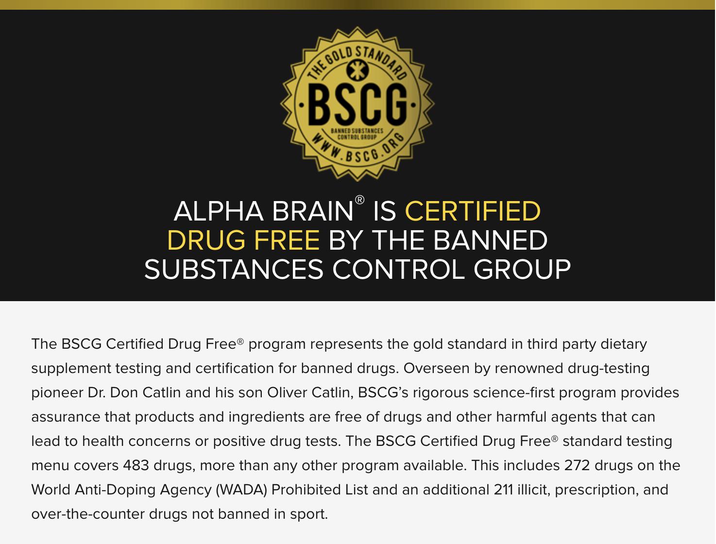 Onit BSCG Certified Drug Free seal